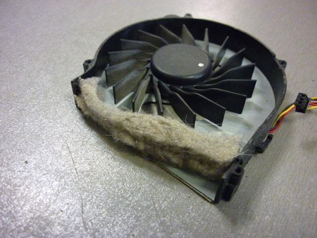 ремонт ноутбука - чистка от пыли