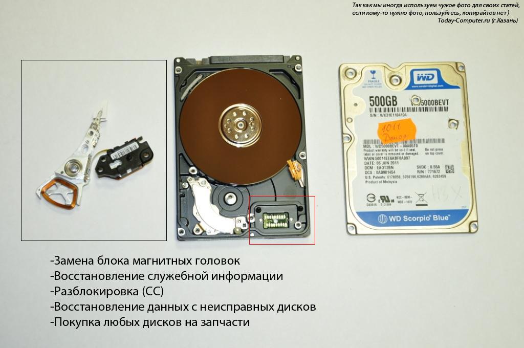 ремонт и восстановление данных с жестких дисков