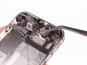 замена шлейфа наушников айфона